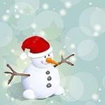 雪だるまと星のかわいい冬の背景3.jpgのサムネイル画像のサムネイル画像